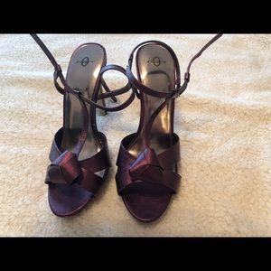 Joey Purple Metallic High Heels